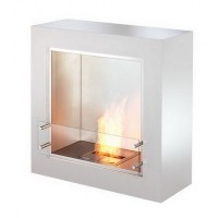 Биокамин Ecosmart Fire cube black/white satin [07063]