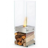 Биокамин Ecosmart Fire Ghost Stainless steel/Toughened Glass [07076]